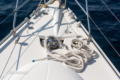 Sailing yacht in Indian ocean, Thailand