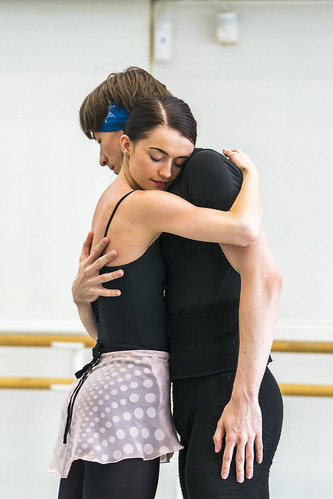 Anna Rose O'Sullivan and Vadim Muntagirov in rehearsal for A Month in the Country, The Royal Ballet © 2019 ROH. Photograph by Tristram Kenton
