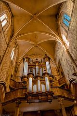 Interior of Petit Andely Saint Sauveur Church: beautiful pipe organ. Les Andelys –France 47