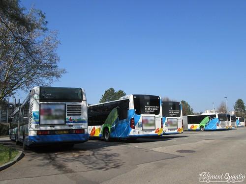IRISBUS Agora L - 62 et MERCEDES-BENZ Citaro G - 50 et 49 et MERCEDES-BENZ Citaro G - 18 et 17 et 16 et 12 - Sibra
