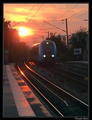 Lever de soleil à Courbevoie