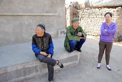 Mieszkańcy wioski Desheng Bao