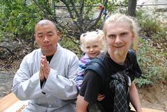 Z mnichem z klasztoru Shao Lin