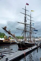 Le Morgenster amarré dans le port de Vannes, Morbihan, Bretagne..