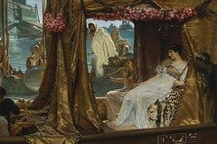 Cleopatra The Meeting of Antony and Cleopatra by Sir Lawrence Alma-Tadema, 1885, 720X480