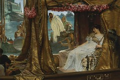 Cleopatra The Meeting of Antony and Cleopatra by Sir Lawrence Alma-Tadema, 1885, 1200X800
