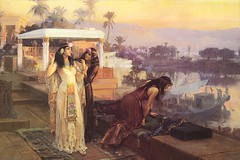 Cleopatra on the Terraces of Philae by Frederick Arthur Bridgman 1896 WM 720X480