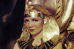 Cleopatra publicity photo of Claudette Colbert as Cleopatra 1934 WM 720X480