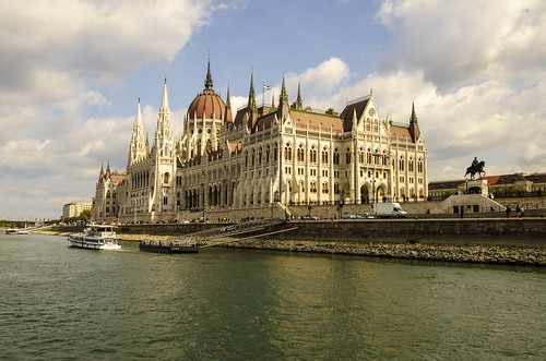 The Hungarian Parliament Viewed from Danube