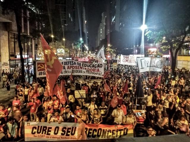 O atos também foram uma convocação para a greve geral de 14 de junho - Créditos: Jaqueline Deister