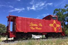 Former Santa Fe Southern caboose 2, ex D&RGW 01440.  Santa Fe New Mexico, May 26 2018.