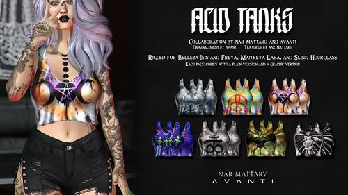 <Nar> Acid Tanks -- A Collab with Avanti for Vintage Fair 2019