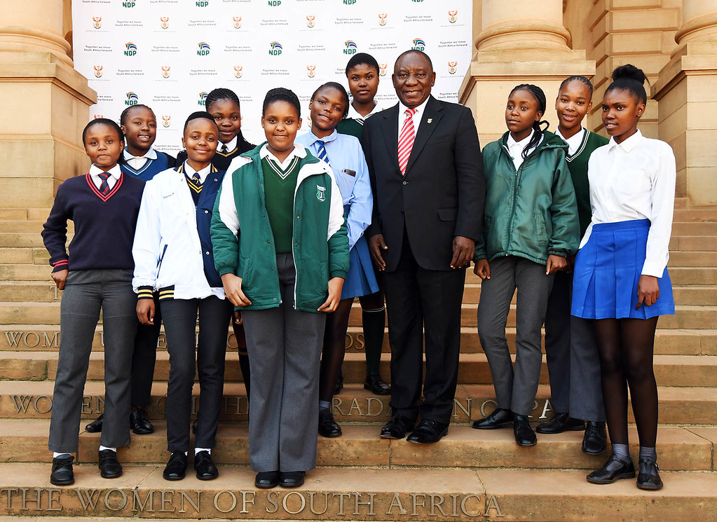 President Cyril Ramaphosa Hosts Girl Learners As Part Of Take A Girl