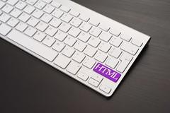 Keyboard With HTML Key in Purple