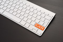 Keyboard With LAN Key in Orange