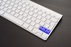 Keyboard With MLM Key in Blue