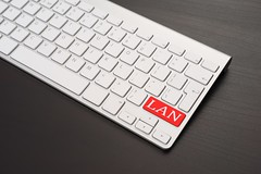 Keyboard With LAN Key in Red