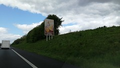 Motorway adverts, French style - Photo of Villedieu-les-Poêles