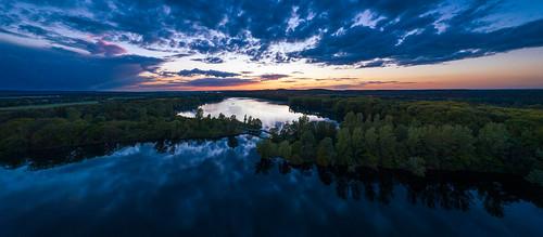 Aerial panorama - Hullerner Reservoir