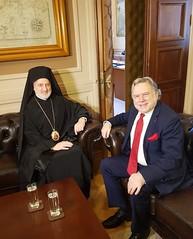 Συνάντηση Υπουργού Εξωτερικών, Γιώργου Κατρούγκαλου, με τον Σεβασμιώτατο Αρχιεπίσκοπο Αμερικής κ. Ελπιδοφόρο (ΥΠΕΞ, 31.05.2019)