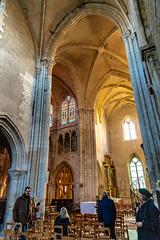 High ceiling of Petit Andely Saint Sauveur Church, Les Andelys, France-50