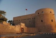 Fort Al Hazm o zachodzie słońca