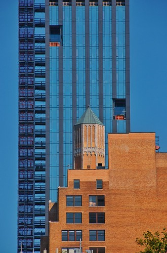 Blue tower abstract
