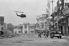10 May 1968, Saigon, Vietnam --- South Vietnamese troops in the streets of Saigon during the Vietnam War
