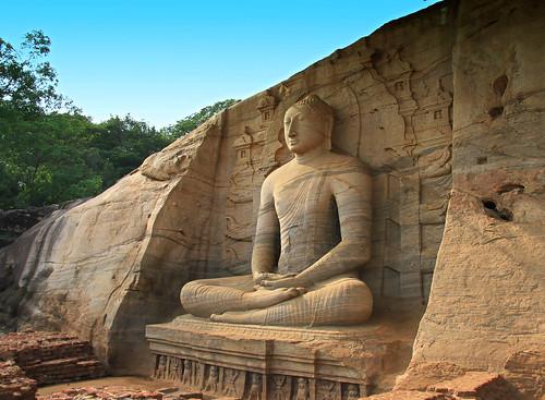 Ruins of Sri Lanka - Gal Viharaya in Polonnaruwa
