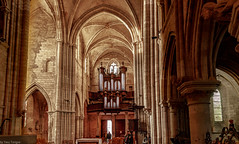 Interior of Petit Andely Saint Sauveur Church: Les Andelys, France -52a