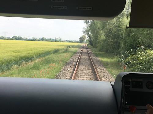 Unterwegs im Führerstand mit der Dessau-Wörlitzer Eisenbahn
