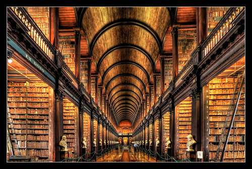 Dublin IR - The Long Room Of The Old Library At Trinity College 01