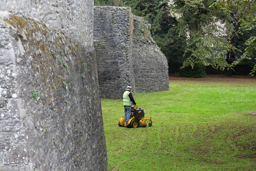 These castle grounds don't mow themselves, you know