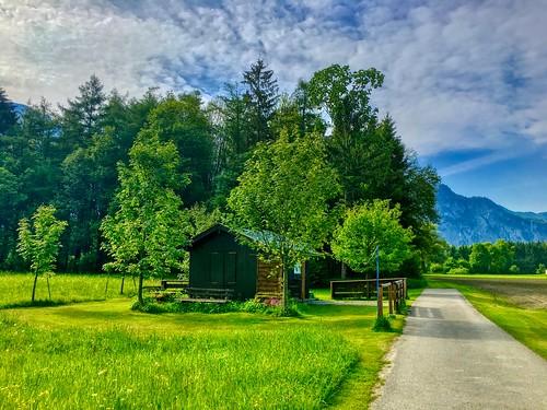 Landscape between Kiefersfelden and Oberaudorf near the river Inn in Bavaria, Germany