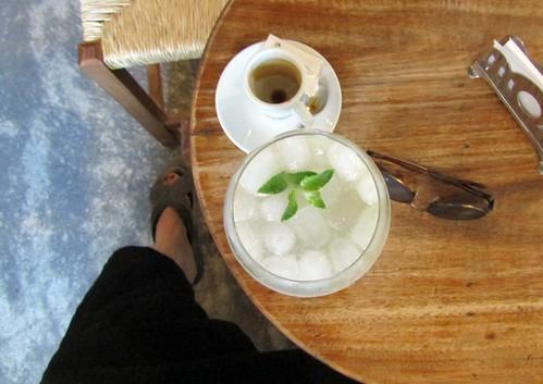 espresso und limonade in casa tial monsaraz