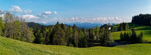 Panorama of the Bregenzerwald above Trögen