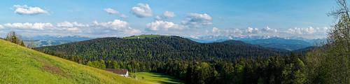 Panorama of the Bregenzerwald from Trögen