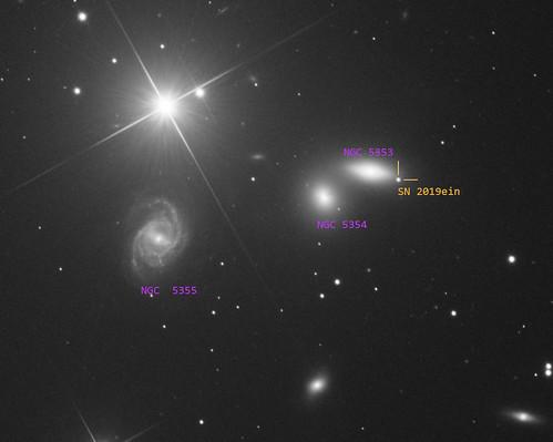 Supernova 2019ein in elliptical galaxy NGC5353 in Canes Venetici [Robotic, Nerpio, ESP]