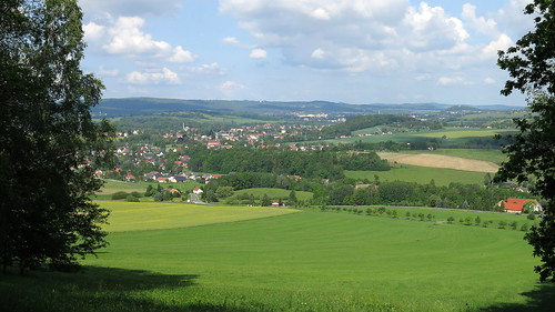 Großschönau (DE) & Varnsdorf (CZ) (background) from Breiteberg