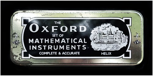 Tin Carrying Case | The Oxford Set of Mathematical Instruments |