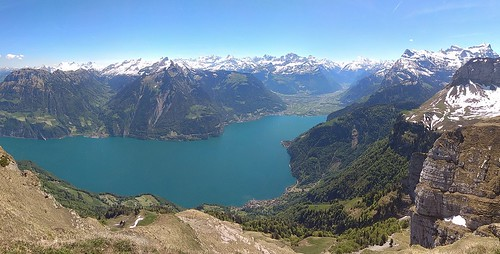 Lake Lucerne from Niederbauen-Chulm (Swiss Alps)