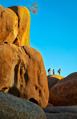 Image by NoVice87 (92110231@N03) and image name Rock People photo  about Exploring the Spitzkoppe in Namibia.