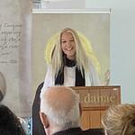 Vassula giving her speech