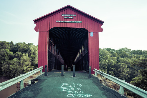 1884 covered bridge meets modernity