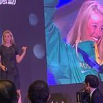 Alisa Camplin speaking in Hong Kong