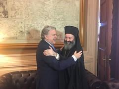 Συνάντηση ΥΠΕΞ Γ. Κατρούγκαλου, με τον Σεβασμιώτατο Αρχιεπίσκοπο Αυστραλίας κ. Μακάριο