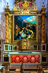Interior of Petit Andely Saint Sauveur Church: Classic Painting at a Shrine, Les Andelys, France -58