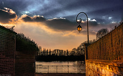 Sunset view of Seine River at sunset from Les Andelys, France -60a