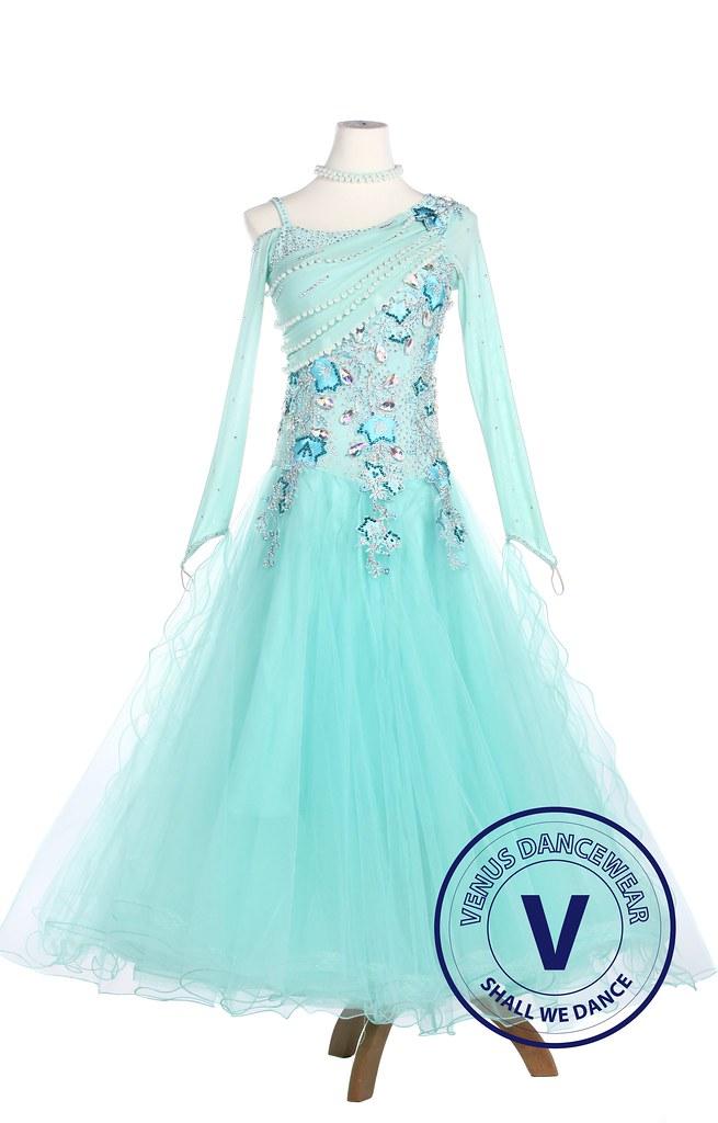 4dfeb0de0 Skyblue Elegant Smooth Tango Waltz Competition Ballroom Dress ...