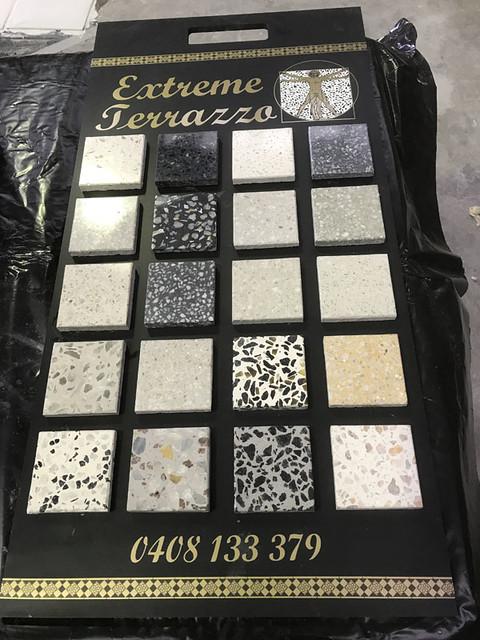 Terrazzo colour range